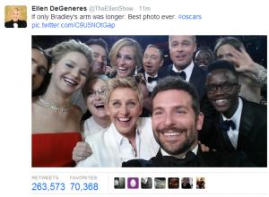 Oscars 2014 - Selfie 11 minutos