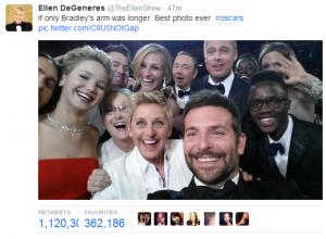 Oscars 2014 - Retuit 50 minutos